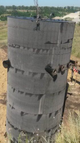 Монтаж канализационной насосной станции.
