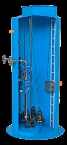 Канализационные насосные станции  Применяются в случаях, когда не возможно произвести отвод хозяйственно-бытовых, промышленных и ливневых сточных вод самотеком на очистные сооружения, в центральный  коллектор или другие места сброса.  Подробнее